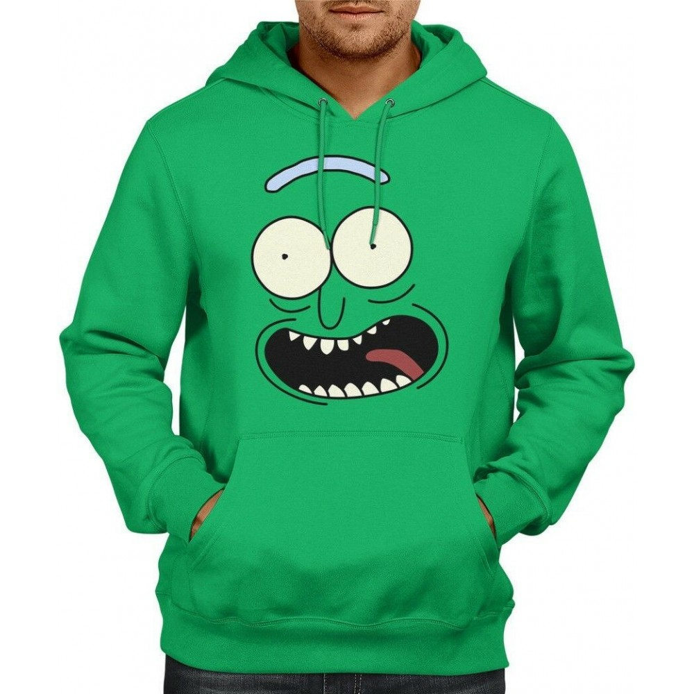 Rick And Morty Pickle Rick Face Mikina
