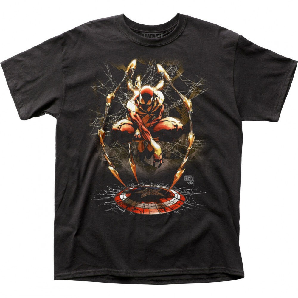 Marvel Iron Spider-Man Captain America Shield Tričko