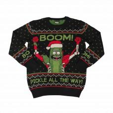 Rick And Morty Boom! PickleRick Adult Ugly Vianočný sveter