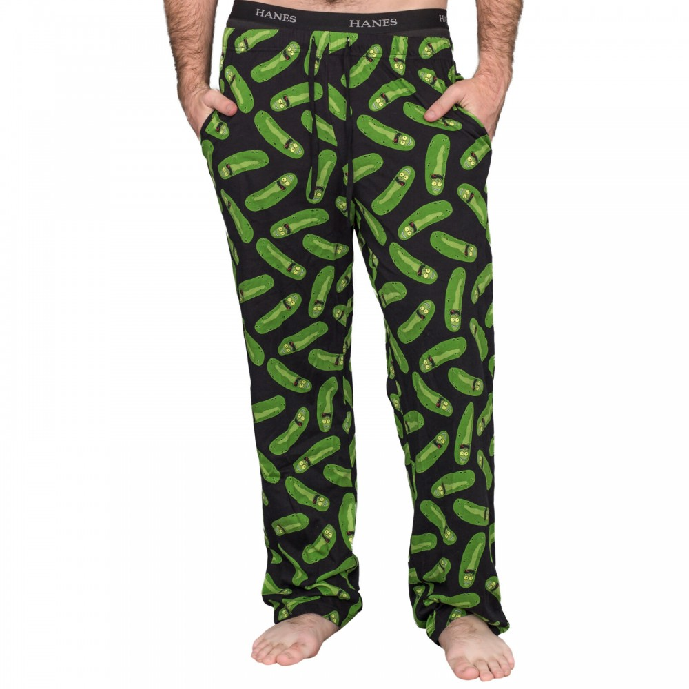 Rick And Morty Nohavice Pickle Rick Black and Green