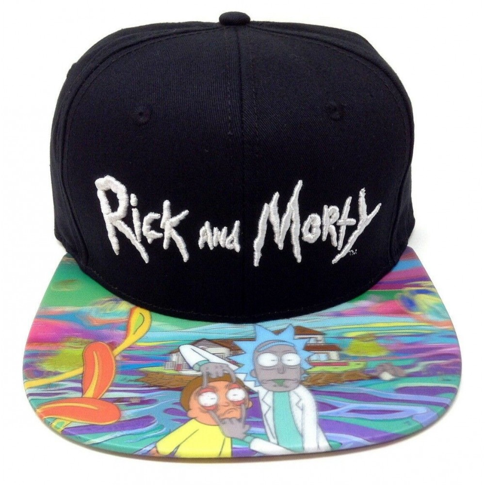 Rick And Morty Holographic Snapback