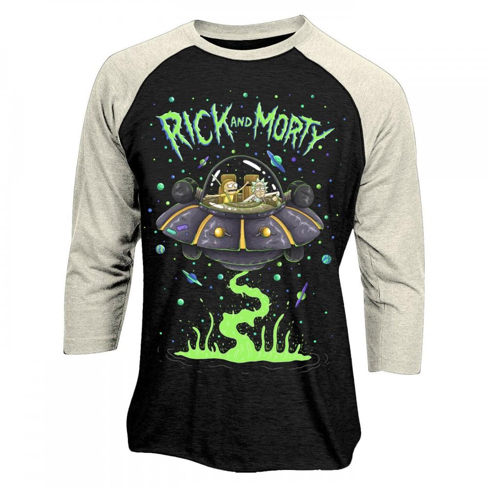 Rick And Morty Spaceship Baseball tričko