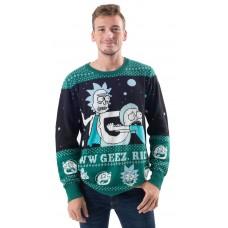 Rick And Morty Alien Aww Geez Rick Vianočný sveter